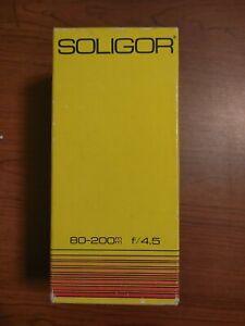 Soligor C/D 80-200MM One-Touch f/4.5 f/22 Macro Lens 08-8921 AIC Photo Inc Japan