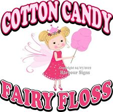 Cotton Candy Fairy Floss DECAL (Choose Your Size) Concession Food Truck Sticker