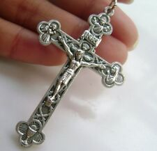 Nice 2 Holy Trinity Crucifix silver jesus cross Catholic rosary pendant
