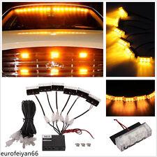 18LED Yellow Super Bright Car SUV Emergency Hazard Warning Flashing Lights Lamps