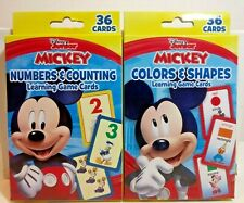 Disney Mickey Mouse Learning Game Cards Numbers & Counting, & Colors & Shapes