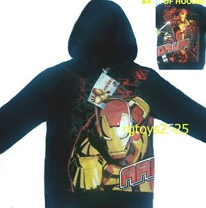 Marvel Ironman Pullover Hoodie 4 5 6 7 8 10 12 14 16 18 20 New Childs Sweatshirt