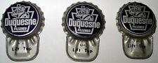THREE Duquesne Pilsener Beer Pittsburgh Pennsylvania Crowns Lift Off Caps PA Hat