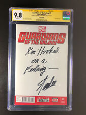 Guardians of the Galaxy CGC 9.8 sign inscribed I'm Hooked on a Feeling Stan Lee