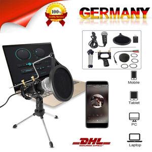 USB Studio Kondensator Mikrofon Podcast Halterung PC Tischmikrofon Standmikrofon