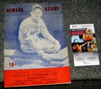 1946 NEWARK BEARS PROGRAM SIGNED BY YOGI BERRA MGR GEO SELKIRK & AL SCHACHT JSA