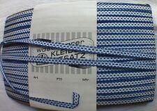 uralte gewebte  Borte blau/weiß 100% reine Baumwolle ca. 1920