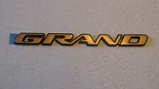 "New OEM Gold Pontiac ""GRAND"" Am Nameplate Emblem Badge 22602348"