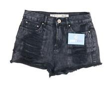 Womens Denim Co Black Denim Shorts Size 6/L2