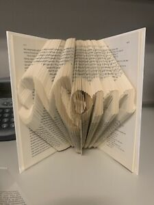 Handcrafted Folded Book Art 3D Sculptured Decor