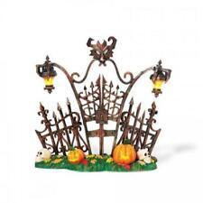 Department 56 Halloween Gothic Gate #800027 Lanterns & Pumpkins Light