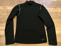 NIKE driFIT Fitted Stretchy Black Yoga Athletic crossFIT l/s Shirt womens Small