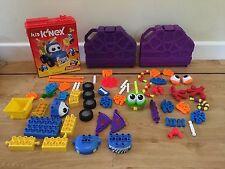 2 KID K'NEX Sets, Building Zone Buddies, Wiggling Monster, Case & Spares