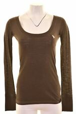 ABERCROMBIE & FITCH Womens Top Long Sleeve Size 6 XS Brown Cotton  NK08