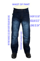 Motorbike Motorcycle Denim Trousers Jeans With Protective Lining Blue Colour