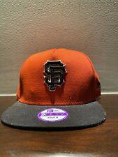 San Francisco Giants SF New Era 9FIFTY MLB Snapback Hat Cap Orange 950