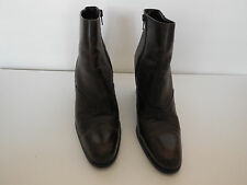 GAMA LADIES DARK BROWN LEATHER BOOTS SIZE  9 M MADE IN ITALY