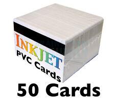 50 Inkjet PVC Cards w/ HiCo Mag Stripes - For Epson & Canon Inkjet Printers