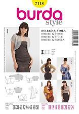 BURDA SEWING PATTERN LADIES BOLERO & STOLE SIZE 10 - 24 7118