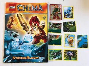 Lego Legends Of Chima Incomplete Sticker Album & Stickers Bundle Lot Preloved