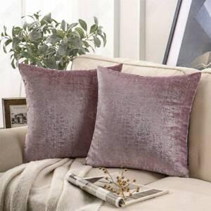 Lilac Purple Velvet Pillow Cover Pastel Purple Cushion Lavender Silver Foil