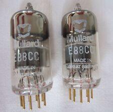 2 x E88CC MULLARD Valve Tubes - GOLD PINS - Great Britain