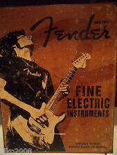 FENDER GUITARS 1954, USA,STRATOCASTER, ANTIQUE-FINISH VINTAGE WALL SIGN 40x30 cm