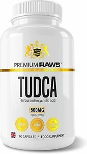 PREMIUM RAWS TUDCA 60 Caps 250mg - Liver Support (Tauroursodeoxycholic Acid)