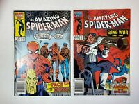 The Amazing SPIDER-MAN Lot of 2 Comics: Issues 276 & 285 Marvel Low Grade