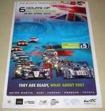 Le Mans - WEC Silverstone 6 Hours 2014 Official Programme Derek Bell Autographed