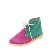 GINEVRA Suede Leather Chukka Boots Size 35 UK 2 US 5 Crepe Sole Made in Italy