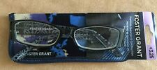 +3.25 Foster Grant Posh blue Women's Reading Glasses sapphire blue floral case