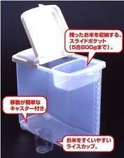 Set of 2 JapanBargain Plastic Kome Bitsu Rice Storage Container, 22 lbs S-1826x2
