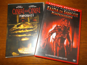 LOTTO 2 DVD HORROR PUMPKINHEAD 3 E 4 CENERI ALLE CENERI E FAIDA DI SANGUE