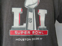 Gray SUPER BOWL LI L I 2017 Tee t - shirt mens Large Houston NFL 02.05.17