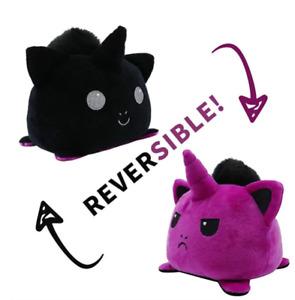 Cute reversible cat/unicorn/skeleton mini plushie toys