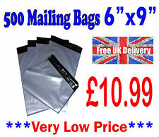 "500 Mailing Bags 6""x9"" Strong Grey Plastic Postage Postal Poly Mail Post Cheap"