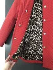 Betsey Johnson Red Quilted Coat