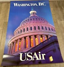 "US AIR Poster Washington, D.C.  24"" x 36"""