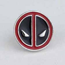 Marvel Comics Superhero Deadpool Design Logo Alloy Badge Brooch Pin