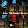 Solar Night Lights Yard 3D Animal Ornament LED Lamp Outdoor Lawn Garden Decor