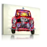 PAINTING DRAWING RED CAR PRINT CANVAS WALL ART PICTURE WS82 UNFRAMED-ROLLED