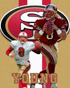 S F 49er Lithograph print of Steve Young 2020