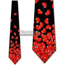 Falling Hearts Tie Valentines Day Necktie Mens Holiday Neck Ties NWT