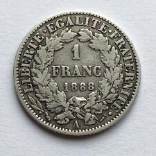 #F332 - France 1 Franc 1888 A Paris 3e république