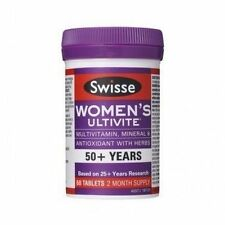 Women's Swisse Ultivite 50 Multivitamin Tablets 2 X 60 Tabs Exp June17