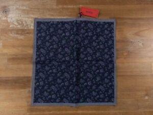 ISAIA Napoli blue cotton pocket square authentic - NWT