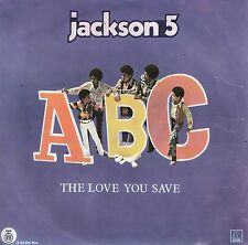 "THE JACKSON 5-ABC-RARE ORIGINAL YUGOSLAV PS 7"" 45rpm 1970-UNIQUE COVER & LABEL"