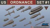 AMK MODEL KITS 1/48 US ORDNANCE WEAPONS SET FOR F14D #88007 | 880