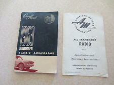 1963 American Motors Rambler Classic & Ambassador automobile owner's manual